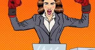 lavoro Ma tu che lavoro fai? schiocco art business woman guantoni da pugile sul multi lavoro d ufficio di incarico 78504796 310x165