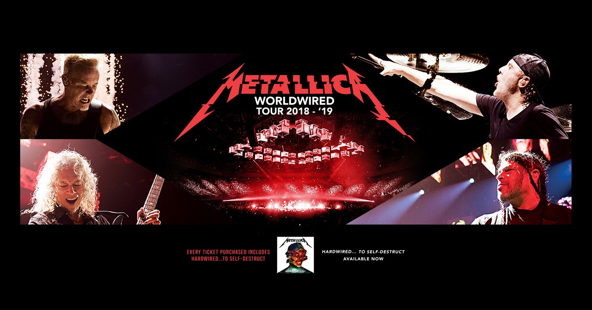 Tornano i Metallica con il WorldWired Tour