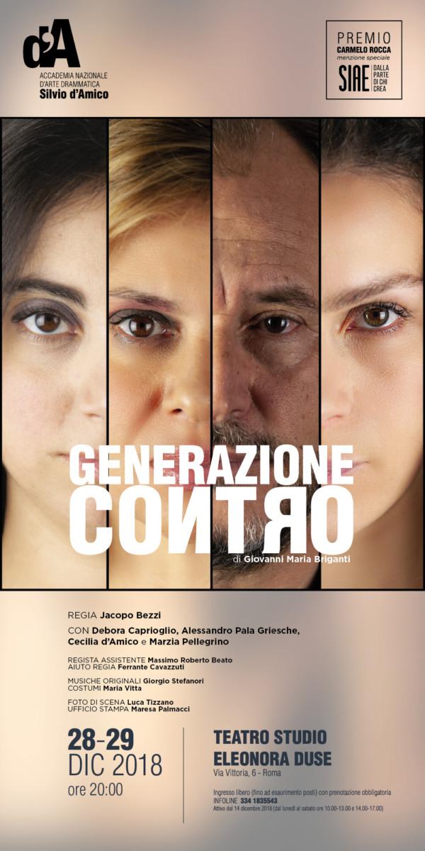 Generazione contro generazione contro Generazione Contro locandina GENERAZIONE CONTRO