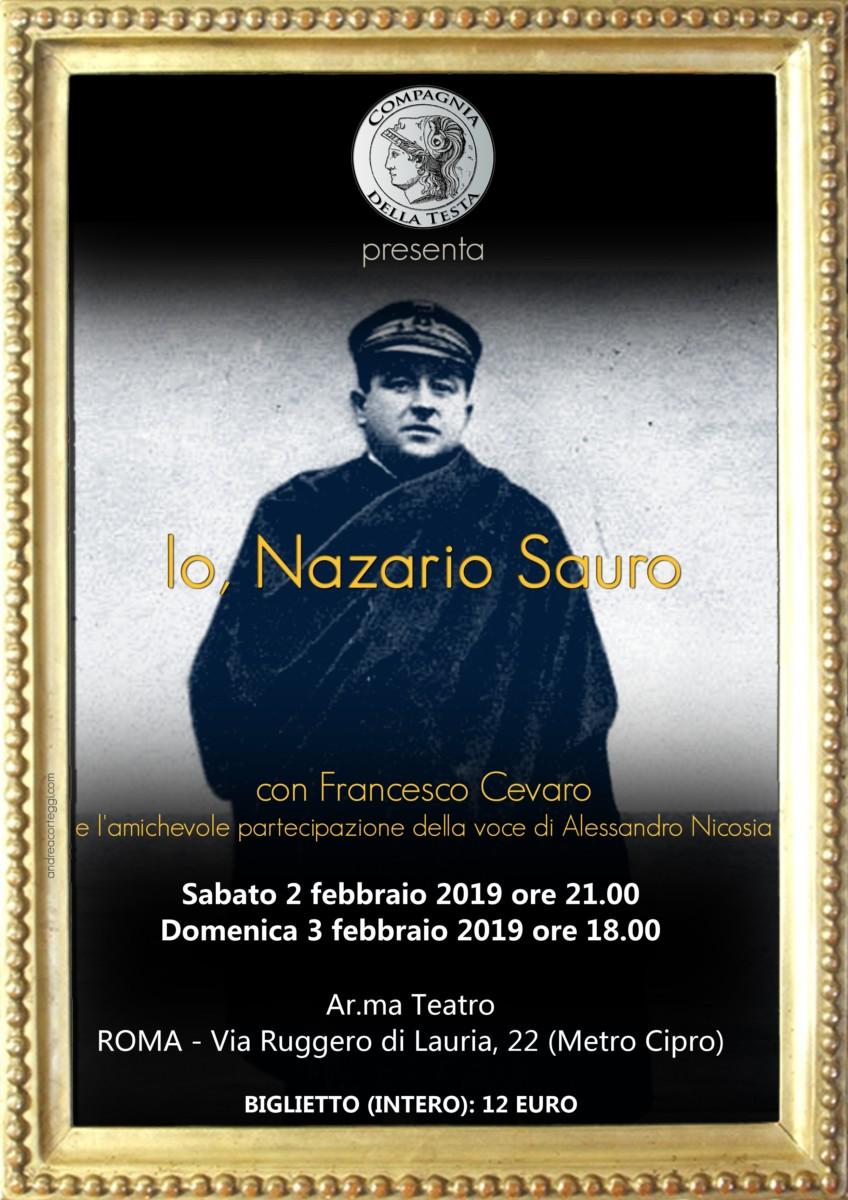 Io, Nazario Sauro io, nazario sauro Io, Nazario Sauro Nazario Sauro LOCANDINA ROMA 2019