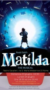 Matilda The Musical! - Sara Colangeli matilda Matilda The Musical! IMG 20190621 WA0000 169x300